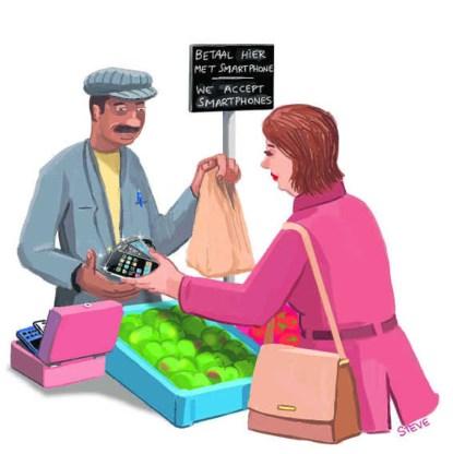'Sterke stijging betalingen via smartphone en tablet in 2013'