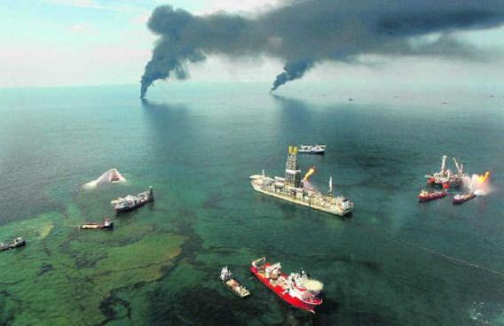 Op de zeebodem onder de olievlek is het koraal aangetast.Carolyn Cole/photo news