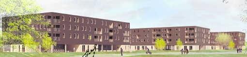 In de Sint-Pietersmolenwijk komen 438 nieuwe huizen en appartementen. repro mvn