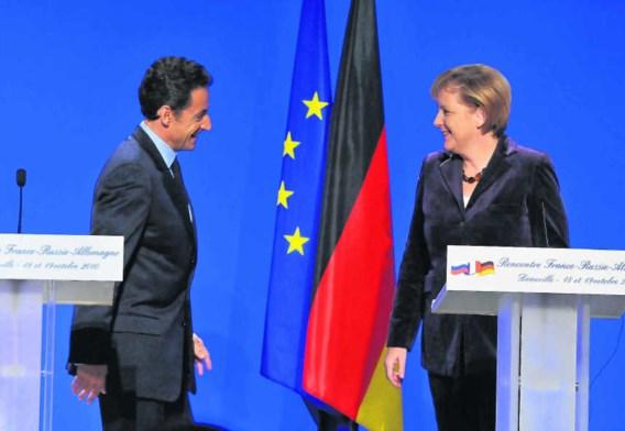 Nicolas Sarkozy en Angela Merkel, hier tijdens hun persconferentie in Deauville, ontmoeten elkaar vandaag opnieuw tijdens een Frans-Duitse top in Freiburg.Guillaume Gaffiot/visual press agency