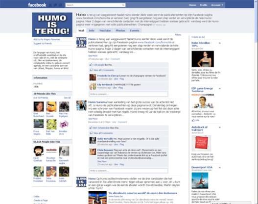 Humo's Facebookpagina is terug