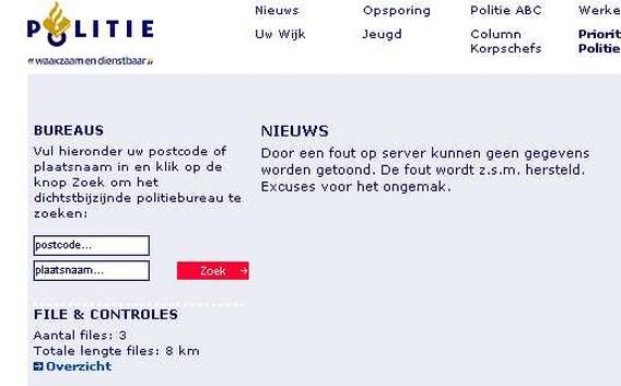 Wikileaks-activisten pakken nu ook Nederlandse politiesite aan
