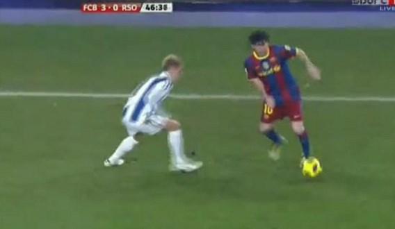 VIDEO: 'Messi is zelfs te snel om een rotschop te geven'