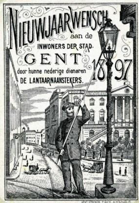 Nieuwjaarswensen van de stad Gent aan haar inwoners, 1897. rr