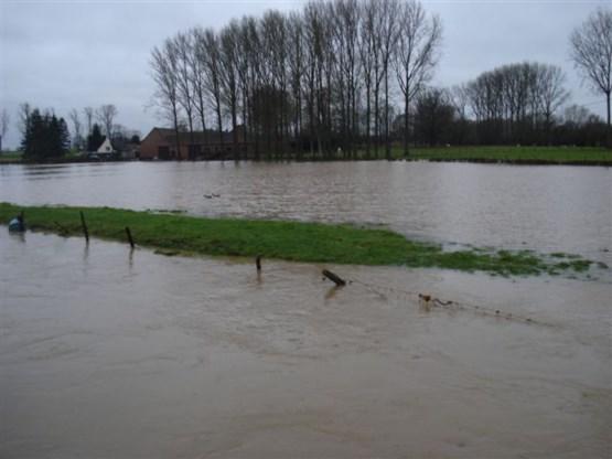 Risico op overstromingen in Vlaanderen fors gestegen