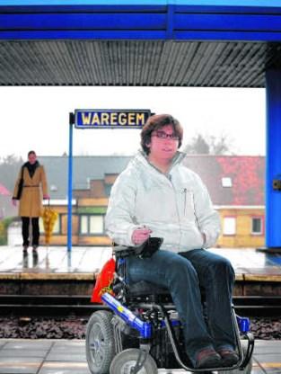 Ann Vanheusden woont in Waregem, maar neemt er nooit meer de trein: 'Ik ga naar Deinze, vijftien kilometer verder.' David Stockman
