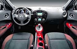 De Nissan Juke is een opvallende verschijning met zijn ongewone voorpartij.nissan