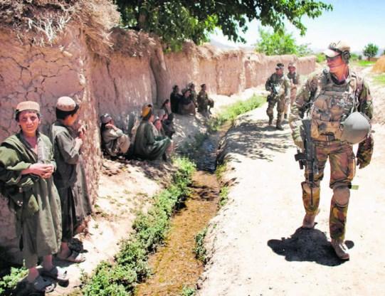 Nederlandse militairen op patrouille in de Baluchivallei in Afghanistan.Evert-Jan Daniels