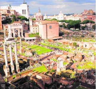 Het Forum Romanum: gevloerd door een wijzigend klimaat. hh
