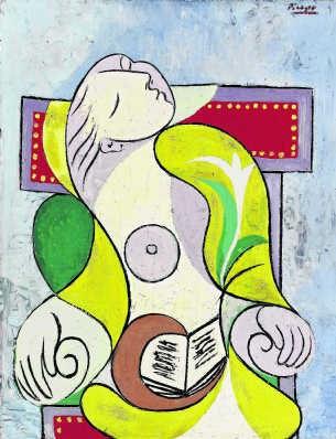 'La lecture' van Picasso: geschat op 14 tot 18 miljoen euro.sotheby's