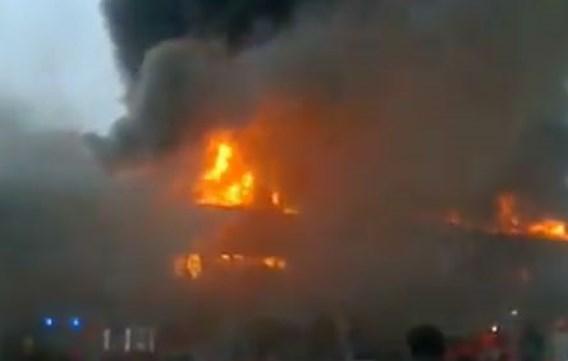 Brand in bioscoopcomplex Bergen aangestoken