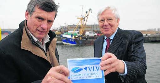 Johan Van de Steene en Noël Devisch leiden de nieuwe, eengemaakte visveiling. Michel Vanneuville