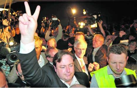 N-VA-voorzitter Bart De Wever op de jongste verkiezingsavond. pdw