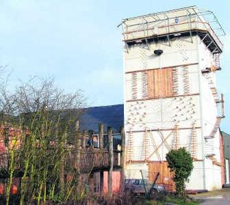 Vanaf nu biedt de klimtoren ook outdoor-mogelijkheden. Liesbeth Boel