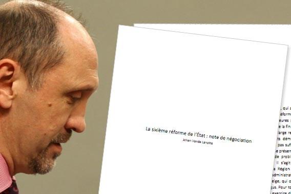 Le Soir publiceert nota Vande Lanotte