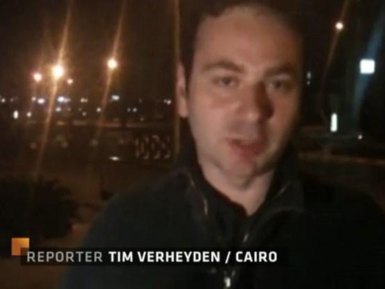 VTM-reporter in Egypte maakt reportages met iPhone