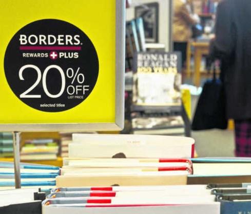 Kortingen in een Borders-winkel in Washington, DC. Het bedrijf heeft 1,29 miljard dollar schulden.Nicholas Kamm/afp