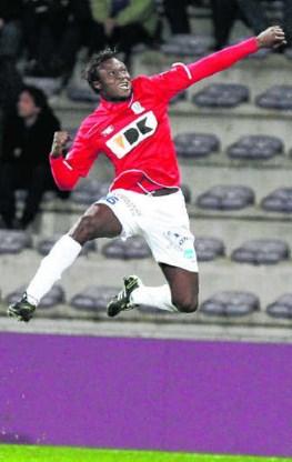 Elimane Coulibaly: duidelijk blij met zijn eerste doelpunt sinds 30 oktober.Michel Krakowski/belga