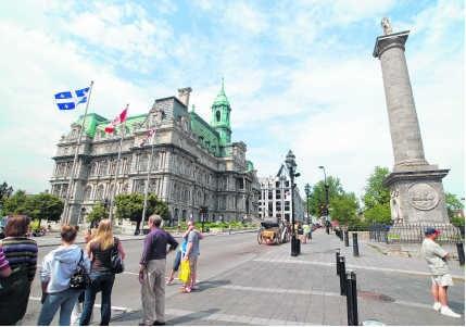 De Place Royale in Vieux Québec, waar in 1608 de geschiedenis van La Nouvelle France begon.Truus van Gog/Hollandse Hoogte