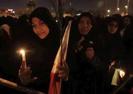 Vreedzame nacht op Parelplein in Bahrein