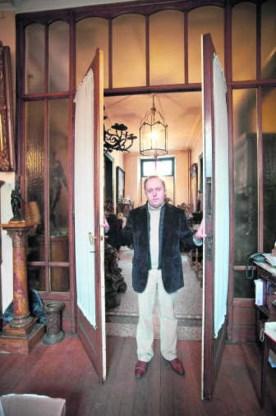 'We mochten geen foto's nemen van het gezelschap', vertelt antiquair Ivan Vanseer. gmd