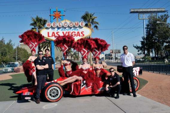 Las Vegas verwelkomt IndyCar in eigen stijl