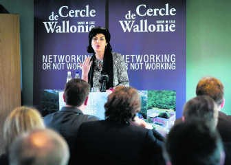 De Waalse ondernemers liepen niet storm voor Joëlle Milquet.Bart Dewaele