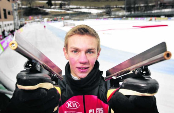 Bart Swings: 'Schaatsen wordt vanaf nu mijn eerste sport, maar ik blijf ook een skeelerseizoen rijden, al was het maar omdat het mij een enorme basis geeft voor het schaatsen.Vincent Jannink/anp