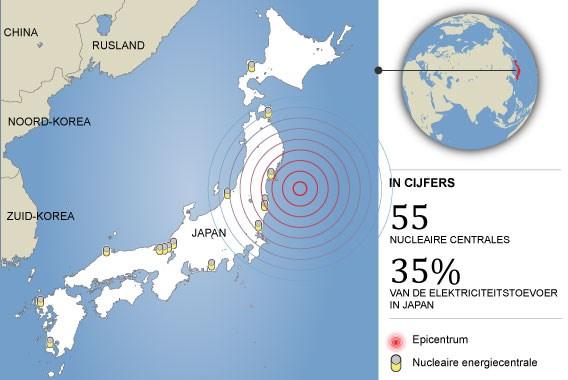 Zware naschok treft Japan
