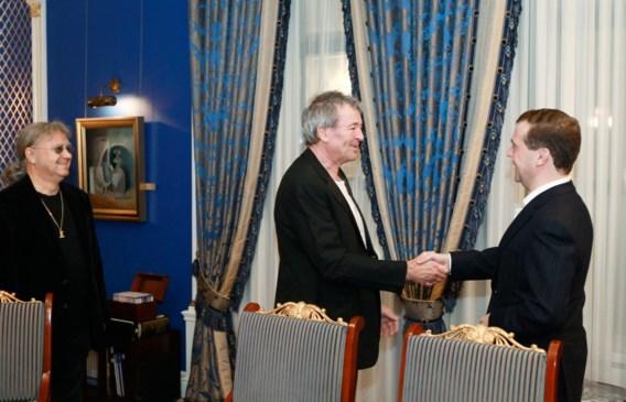 FOTOSPECIAL. Deep Purple op de koffie bij Medvedev