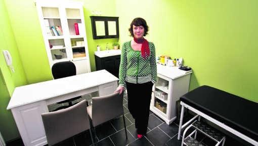 Kathleen Claassen: 'Bij de mensen thuis kun je niet altijd in optimale omstandigheden werken.' ppn