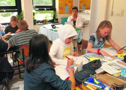 Een klas in het Antwerpse basisonderwijs.vum