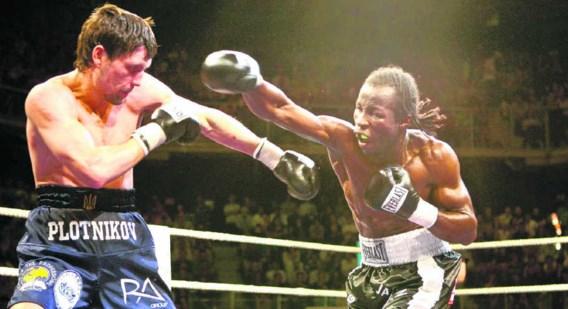 Sugar Jackson in duel met Viktor Plotnikov, tegen wie hij in mei 2008 met succes zijn Europese titel verdedigde. Nadien ging het bergaf. 'Een keer verliezen is niet erg. Integendeel, als je niet doodgaat, word je er sterker van.' Walter Saenen