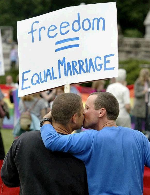 Gay Marriage Pioneers Soak Up The Joy