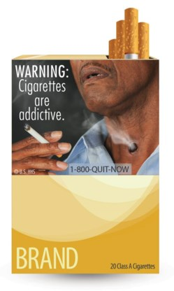 FOTOSPECIAL. Gruwelplaatjes op sigarettenpakjes VS