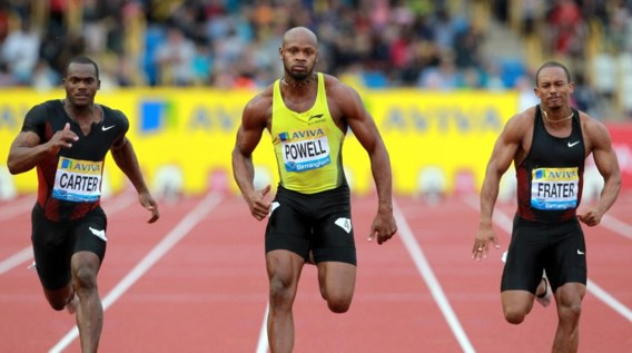 Asafa Powell wint 100m Diamond League Birmingham