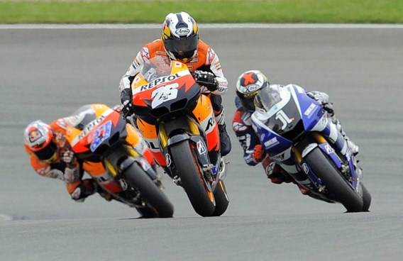 Dani Pedrosa (Honda) wint GP van Duitsland in MotoGP