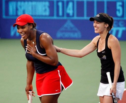 'Gepensioneerde' Martina Hingis klopt Serena Williams