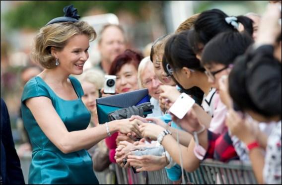 FOTOSPECIAL. Prins Filip en Prinses Mathilde wonen Te Deum bij in Leuven