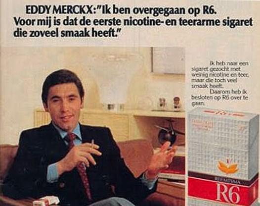 De rokerslongen van Eddy Merckx