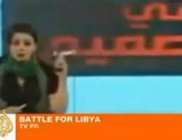 VIDEO. Libische presentatrice zwaait met pistool