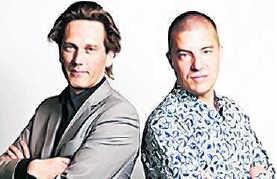 'Goudzoekers': Martijn Kieft en Chris Vijn. rr