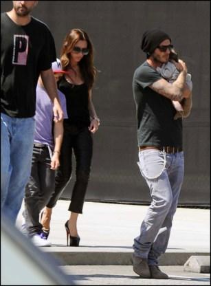 Beckhams shoppen voor het eerst met dochtertje