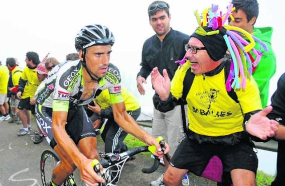 Juan José Cobo won gisteren verrassend de koninginnenrit in de Vuelta met aankomst op de gevreesde Angliru. Door die overwinning lijkt de Spanjaard goed op weg naar de eindzege.Felix Ordonez/reuters