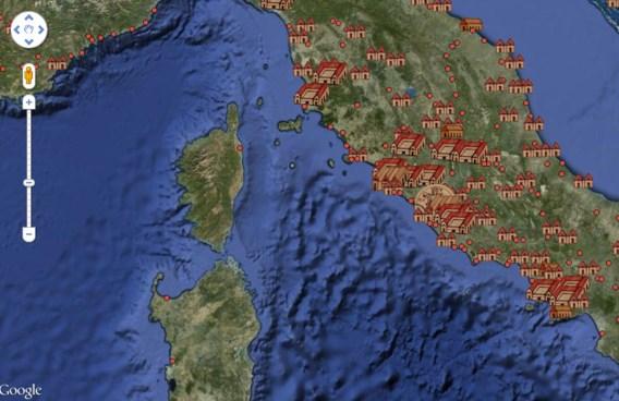 Unieke Romeinse kaart als online routeplanner