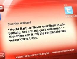 VIDEO. Duchka zegt sorry aan Bart De Wever