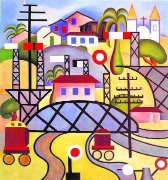 'Ik heb me gewroken door kleuren puur te gebruiken', Tarsila do Amaral. Museu de Arte Contemporanea, Universidade Sao Paulo