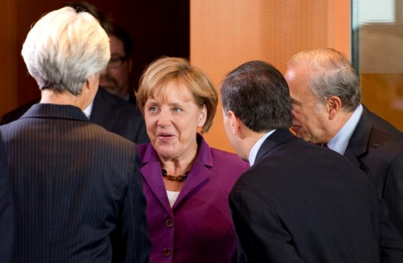 Merkel ontmoet Lagarde