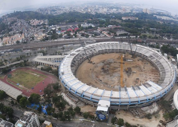 'Nog veel werk aan Maracana-stadion voor WK voetbal 2014'