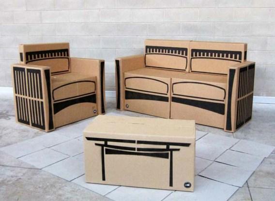 FOTOSPECIAL. Creatieve meubels uit karton